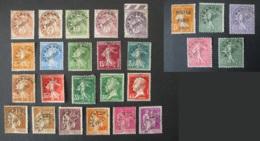 FRANCE Lot De 26 Timbres Préoblitérés 1922 / 1947 Préoblitéré Semeuse Blanc Pasteur Paix - Préoblitérés