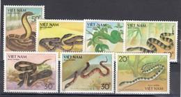 Vietnam 1989 - Serpents, Mi-Nr. 2029/35, Dent., MNH** - Vietnam