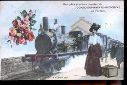CONFLANS SAINTE HONNORINE  TRAIN AU DEPART - Conflans Saint Honorine