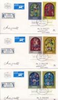 ISRAEL, 1973, Addressed FDC (6X), Chagall Windows, SG547-558, F4509 - FDC