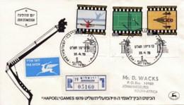 ISRAEL, 1979, Addressed FDC, Hapoel Games , SG753-755, F4592 - FDC