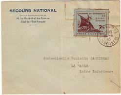 Guerre De 40 , Timbre CHAMBRE DE COMMERCE DE St NAZAIRE Obl Guerande Loire Inferieure Pour LA BAULE 1945 ... Lettre - Poststempel (Briefe)