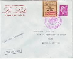 GREVE Des PTT De 1968 Lettre Chambre De Commerce D' Ajaccio CORSE ( TP Maury N° 15 ) Lettre Pour NICE - Poststempel (Briefe)