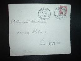 DEVANT TP M. DE DE DECARIS 0,25 OBL. Tiretée 13-10 1964 LIORAC DORDOGNE (24) - Poststempel (Briefe)