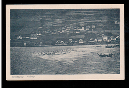FAROE ISLANDS Grindadrap I MiÕvagi  Ca 1920 Old Postcard - Islas Feroe