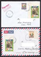Laos 2014 Mi 22858 2261 2262 Double Overprint Airmail Express - Laos
