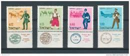 Israel - 1966, Michel/Philex No. : 378-381, - MNH - *** - Full Tab - Israel