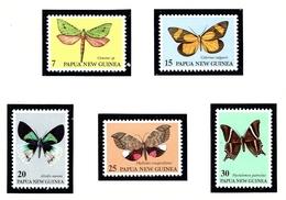 Papua New Guinea 503-07 MNH 1979 Moths - Guinea (1958-...)