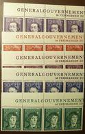 Generalgouverment 96 -100 Streifen ** MNH   #5043 - Occupation 1938-45