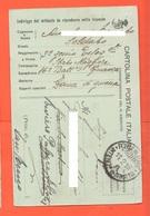 Franchigia Da 3° Genio Telegrafisti  XVI° Btg Finanza  1916 Zona Di Guerra X San Fermo - Dalle Terre Redente.... - 1900-44 Victor Emmanuel III
