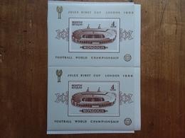 MONGOLIA - Coppa Del Mondo Di Calcio 1966 - 2 BF Dentellato E Non Dentellato - Nuovi ** + Spese Postali - Mongolia