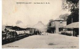 Marne MAREUIL Sur AY La Gare Du C.B.R. - Mareuil-sur-Ay