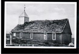 FAROE ISLANDS Kirke Af Aeldre Type (Sando), Z. Heinesen Ca 1930 Old Postcard - Islas Feroe