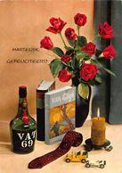 Hartelijk Gefeliciteerd VAT 69 Van Gogh Books, Roses In Vase Postcard - Gruss Aus.../ Grüsse Aus...