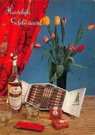 Hartelijk Gefeliciteerd Grants Bottle Alcohol Caballero Postcard - Gruss Aus.../ Grüsse Aus...