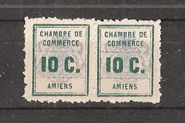 France Grève N°1 Amiens 1909 En Paire Neuve Sans Charnière MNH Cote Yvert 2011 70€ - Grève