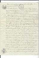 MARECHAL MONCEY . Naissance De Ses 2 Enfants  9.11.1792  Extrait Archives - Baptême Palize , Non Déclarés à L'état-civil - Manuscritos