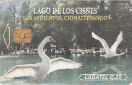 GUATEMALA - Swans' Lake  Lago De Los Cisnes  Los Aposentos, Telgua-0027B, Gemplus - GEM5 (Black), Used - Guatemala
