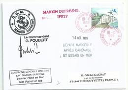 YT 3239 Falaises De Dieppe - Cerf Volant - Posté à Bord Du MD - Marseille Paquebot - 18/10/1999 - France