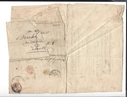 DEPART DES CONSCRITS - Lettre De Convocation ( Cachet MP ) Adressée Au Citoyen Bourlon ( Futur Gendre De Moncey ) An XI - Manuscritos
