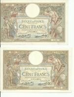 2 BILLET DE 100 Francs 1 DE 1928 ET 1 DE 1929 BON ETAT - 1871-1952 Antichi Franchi Circolanti Nel XX Secolo