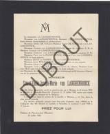 Doodsbrief Stuart-Emile-Joseph-Marie Van LANGHENDONCK °1874 Muizen †1928 Trouville-Deauville (Fr) (H125) - Décès