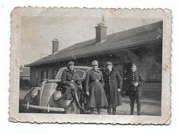 Oldtimer  Voiture Ancienne Automobile Soldats Armée Belge  Photo  9x6,5 - Auto's