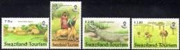 (017) Swaziland  Tourism / Tourismus / Animals / Tiere / 2002   ** / Mnh  Michel 719-722 - Swaziland (1968-...)