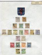 Luxembourg - Collection Sur 3 Feuilles - à Voir - Etats Divers - Réf D L 4 - Briefmarken