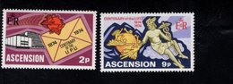 900904636 1974 UPU - ASCENSION SCOTT 179 180 POSTFRIS MINT NEVER HINGED EINWANDFREI (XX) - Timbres