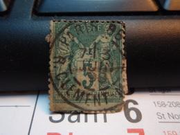 Timbre Sage  5 C Oblitéré. PARIS 86 - 1898 - 1876-1898 Sage (Type II)