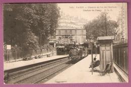 Cpa Paris Chemin De Fer De Ceinture Station De Passy - éditeur CLC N°749 - Trasporto Pubblico Stradale