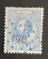 Nederland/Netherlands - Nr. 19H Met Puntstempel 196 - 1852-1890 (Wilhelm III.)