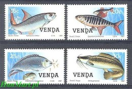 Venda 1987 Mi 159-162 MNH ( ZS6 SAV159-162 ) - Fishes