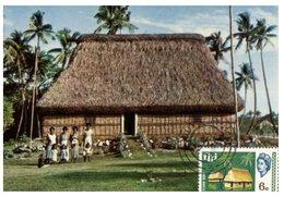 (44) Fiji Maxicard Postcard - Chief Bure (house) - Fidji