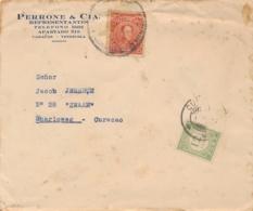 Curacao - 1932 - 12,5 Cent Port P24 Enkelfrankering Op Taxed Incoming Cover From Venezuela - Niederländische Antillen, Curaçao, Aruba