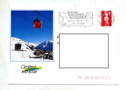 Lettre Flamme Orcieres Ete Hiver Theme Ours Illustré - Poststempel (Briefe)