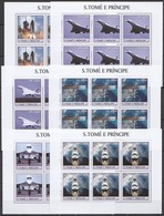KV029 2003 SAO TOME & PRINCIPE TRANSPORT AVIATION SPACE SHUTTLE !!! 6SET MNH - Other