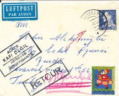 Denmark Cover Sent To Turkey And Returned (adresse Insuffisante) - Danemark