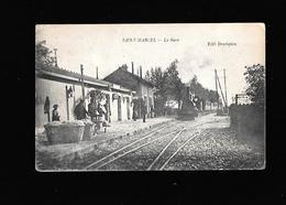 C.P.A. D UN TRAIN A LA GARE DE SAINT MARCEL 71 - Otros Municipios