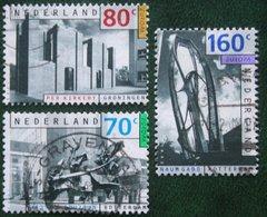Europa Zegels CEPT ART NVPH 1565-1567 (Mi 1481-1483); 1993 Gestempeld / USED NEDERLAND / NIEDERLANDE - 1980-... (Beatrix)
