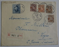 Belgio Re Alberto Cover Crocce Rossa Raccomandata Huy .(KB-27915 - 1914-1915 Cruz Roja