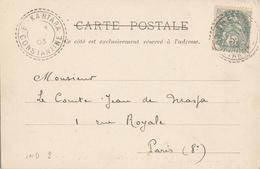 ALGERIE CP 1903 EL KANTARA FACTEUR BOITIER TYPE 84 SUR 5C BLANC INDICE 8 COTE 50 EUROS - Postmark Collection (Covers)