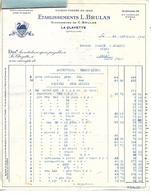 2 Factures 1941/ 71 LA CLAYETTE / L. BRULAS/ Fournitures Mercerie/ Militaria Décison C.N Prix, Condition Ventes Points - 1900 – 1949