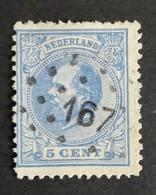Nederland/Netherlands - Nr. 19H Met Puntstempel 167 - 1852-1890 (Wilhelm III.)