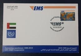UAE ARAB EMIRATES 2019 - EMS EXPRESS MAIL SERVICE - UPU JOINT ISSUE COMMON DESIGN EMISSION COMMUNE - FDC - Emissions Communes
