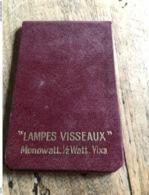 Lampes Visséaux Carnet Calendrier 1930 - Publicidad