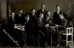 SCHACH - Foto-Ak - Bund Edelweiß BUCHHOLZ I.Sa. Mit SCHACHSPIELER 1921 I - Schach