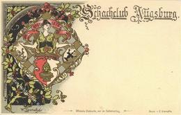 Schach Augsburg Sign. Lausche, W. Schachclub  I-II - Schach