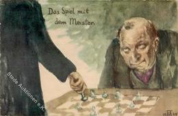 Schach Das Spiel Mit Dem Meister Künstlerkarte I-II - Schach